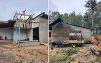 Angin Puting Beliung Rusak Rumah Warga Kota Singkawang