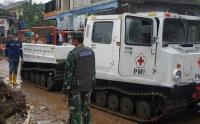 Hagglund PMI Bantu Proses Evakuasi Korban Banjir Cicirug