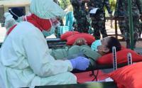 Kegiatan Donor Darah pada HUT Ke-75 TNI