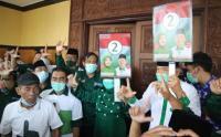 Undian Nomor Urut Paslon Pilbup Malang, Pendukung Abai Protokol Kesehatan Covid-19
