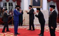Presiden Jokowi Saksikan Pengucapan Sumpah Anggota Dewan Komisioner LPS