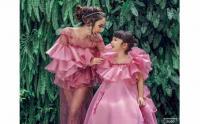 Potret Gisel dan Gempi Pakai Gaun Pink