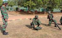 Prajurit Yonif Raider 514 Divif 2 Kostrad Latihan Eksersisi Senjata Mortir