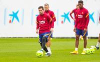 Latihan Barcelona Jelang Laga El Clasico Kontra Real Madrid