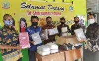 MNC Peduli Salurkan Masker untuk Siswa SMAN 2 Gowa Sulsel