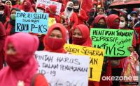 Massa SRMI Tuntut Pencabutan UU Cipta Kerja
