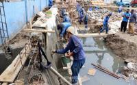 Sudin SDA DKI Jakarta Bangun Kolam Olakan untuk Antisipasi Banjir di Jalan Pangeran Jayakarta