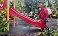RPTRA Betawi Ngumpul Disemprot Disinfektan