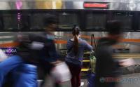 Belasan Ribu Orang Tinggalkan Surabaya Lewat Stasiun Gubeng