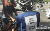 Pesepeda: Saya Cucu Suzzana, Berani Begal?