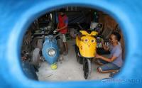 Lucunya, Bengkel Ini Rakit Bodi Motor Mirip Kartun Minions