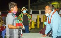 Momen Menteri KKP Edhy Prabowo saat Bertemu ABK di Negeri Paman Sam