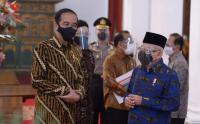 Presiden Jokowi Hadir pada Penyerahan DIPA dan Buku Daftar Alokasi Transfer ke Daerah Tahun 2021