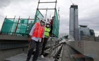 Menhub Budi Karya Tinjau Stasiun LRT Dukuh Atas