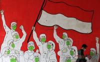 Mural Bersama Hadapi Pandemi Covid-19 di Kawasan Cijantung
