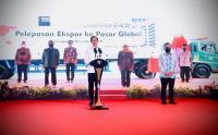 Presiden Jokowi Lepas Ekspor Produk Indonesia secara Virtual