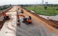 Intip Pembangunan Akses Tol Bandara Soetta di Tangerang