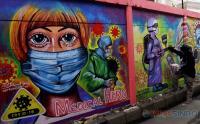 Edukasi Masyarakat Tentang Prokes Covid 19 Lewat Mural