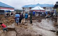 Banjir Bandang di Paniai Papua Hanyutkan 3 Rumah Warga