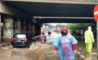 Jakarta Diguyur Hujan, Jalan RE Martadinata Tanjung Priok Banjir