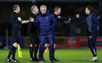 Muka Bahagia Jose Mourinho Usai Tottenham Kalahkan Tim Asal Divisi Championship