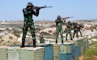 Intip Latihan Menembak Prajurit Batalyon Mekanis Konga di Lebanon