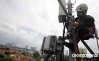 Pemeriksaan Perangkat BTS Pasca Banjir Merendam Kawasan Mampang