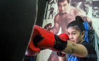 Intip Latihan Petinju Wanita Pertama Indonesia Felmy Sumaehe