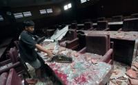 Tak Hanya di Malang, Gempa Meporak-porandakan Gedung DPRD Kabupaten Blitar