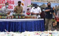 Ribuan Miras Dimusnahkan di Hari Pertama Puasa Ramadhan