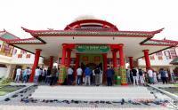 Salat Jumat Minggu Pertama Ramadhan di Masjid Arsitektur Tionghoa
