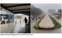 Singapura Dilanda Banjir Bandang, Ini Penampakannya