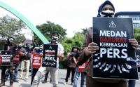 Tolak Pembungkaman, Para Jurnalis Gelar Aksi di Kantor Pemkot Medan