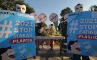 Aksi Stop Makan Palstik di Surabaya