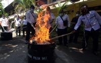 Polda Bali Musnahkan Narkotika Hasil Tangkapan Selama Sebulan