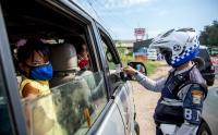 Begini Suasana Penyekatan Jalur Lintas Timur Sumatera Menuju Palembang