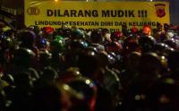 Ribuan Pemudik Motor Terjebak Kemacetan di Subang