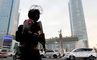 Polda Metro Jaya Gelar Apel Pengamanan Malam Takbiran di Bundaran HI