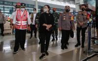 Puan Maharani Kunjungi Bandara Soetta Cek Pelaksanaan Larangan Mudik