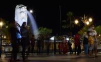 Warga Manfaatkan Suasana Lebaran untuk Mengunjungi Patung Marllion