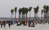 Wisata Pasir Putih Pantai Reklamasi Sangat Padat saat Libur Lebaran