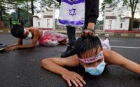 Aksi Teatrikal Protes Kekerasan Israel Terhadap Warga Palestina