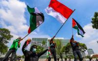 Aksi Solidaritas Buruh Indonesai untuk Kemanusiaan di Palestina