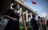 Aksi Dukungan Masyarakat untuk Selamatkan 75 Pegawai KPK Nonakti