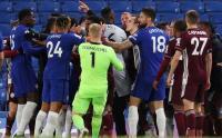 Tegang, Pemain Chelsea dan Leicester Terlibat Keributan