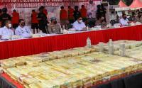 Begini Penampakan Sabu 1,1 Ton yang Digelar di Halaman Polda Metro Jaya