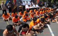 Meresahkan Masyarakat, Puluhan Preman Diamankan Polda Jatim