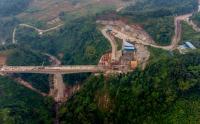 Begini Penampakan Pembangunan Jembatan Tertinggi Proyek Kereta Cepat Jakarta-Bandung