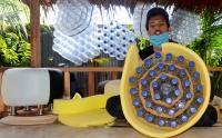 Kreatif, Furnitur Ini Terbuat dari Botol Plastik Bekas