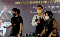 Mensos Risma Ajak Raffi Ahmad Kunjungi Sentra Kreasi ATENSI di Bekasi